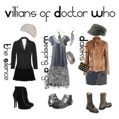 """Villians of Doctor Who"" by siriuslyhp211 on Polyvore... This is such a simple way to incorporate doctor who into our lives!"