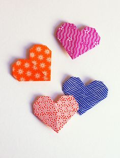 Here's a quick little origami project that's fun to do with patterned paper: heart-shaped bookmarks that slip onto page corners. You could m...