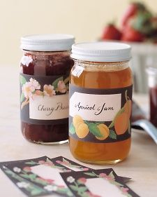 Pretty jar labels