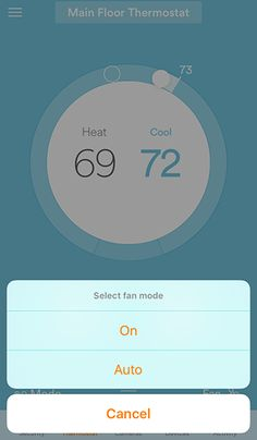 thermostat settings app - Google Search
