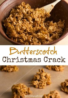 Butterscotch Corn Flake Candy - Pinch My Salt - Super easy no-bake Christmas Candy recipe! This butterscotch corn flake candy recipe i - Christmas Crack, Christmas Sweets, Christmas Cookies, Christmas Time, Christmas Ideas, Easy Candy Recipes, Holiday Recipes, Christmas Recipes, Christmas Foods