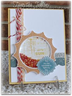 Created by Tamytha Jenkins of www.paperheartist.com.  Uses Close To My Hearts April Stamp of the Month, My Sunshine.