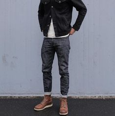 Look Fashion, Fashion Boots, Mens Fashion, Fashion Outfits, Stylish Men, Men Casual, Bon Look, Ck Jeans, Look Street Style
