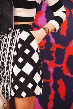 Geometric prints / black and white. #mizustyle
