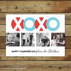Valentine's Day Photo Card - MODERN XOXO. $15.00, via Etsy.