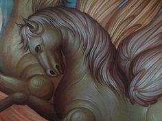 Byzantine Icons, Religious Icons, Orthodox Icons, Fresco, Vignettes, Style Icons, Lion Sculpture, Fine Art, Statue