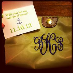 cute idea! fill the bags with things that will be needed for the big day.