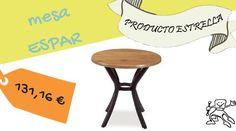 Mesa redonda, para cafetería, hoteles, restaurantes, bares...