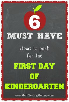What to Pack for the first day of #Kindergarten