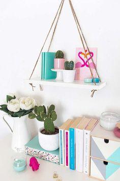 Diy wall shelves, shelving, hanging storage, diy hanging shelves, diy ran.