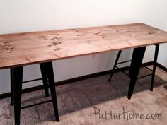 {Putter Home: Simple Cheap DIY Industrial Rustic Desk}