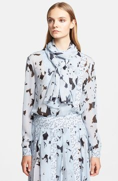 Proenza Schouler Print Silk Chiffon Blouse available at #Nordstrom