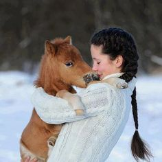 Nothing better than a horse hug!
