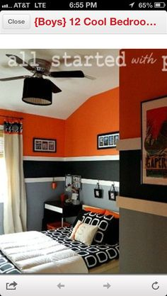 Logan's Room! Have to Incorporate his request for orange :)