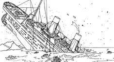 Titanic Sinking Coloring Pages   Ausmalbilder, Ausmalen ...