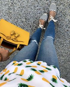 pineapple print outfit
