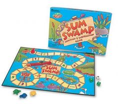 Add and subtract your way through the swamp.  Young children get to practice their essential arithmetic facts while having fun.  This game received an 'Oppenheim Best Toy Award'.