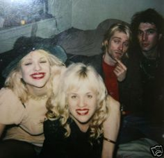 Kat Bjelland (Babes in toyland), Courtney Love and Kurt cobain