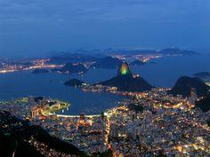 Anoitecer na Cidade do Rio de Janeiro - Brasil