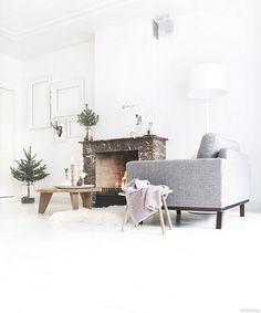 Navidad blanca y natural Sala MyDeer • White and Natural Christmas   Photo: My Deer