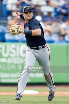 News Photo : Austin Riley of the Atlanta Braves in action. Baseball Guys, Braves Baseball, Mlb Players, Baseball Players, Atlanta Braves Logo, Young Guns, National League, New York Mets, Georgia