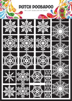 472.948.003 Dutch Paper Art Snowflakes Formaat A5