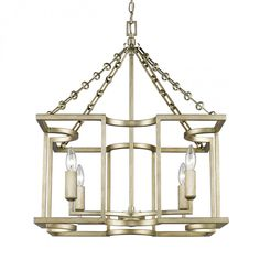 Bellare 4 Light Chandelier in White Gold , ,