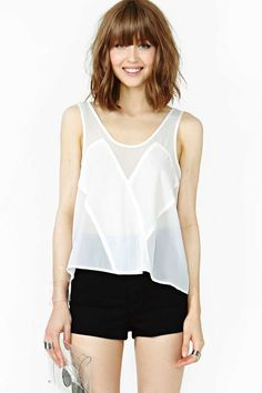 Nasty Gal Sheer Illusion Tank | $38 | sheer crazy gifts for her | womens tank top | womenswear | womens fashion | womens style | wantering http://www.wantering.com/womens-clothing-item/nasty-gal-sheer-illusion-tank/aaUGy/