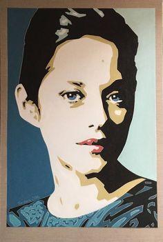 Original People Painting by Varvara Varvara Oil On Canvas, Canvas Art, Original Paintings, Original Art, Face Sketch, Marion Cotillard, French Actress, American Horror Story, Buy Art