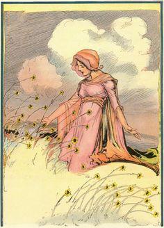 Lovely illustration by John R Niell in L. Frank Baum's 1917 'Tik Tok of Oz'