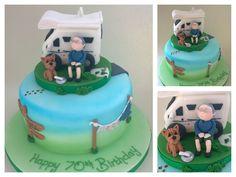 Camper Van Motorhome Birthday Cake Topper