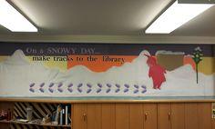 """The Snowy Day"" by Ezra Jack Keats Bulletin Board. (I love this bulletin board!)"