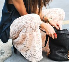 lace pants - i love the thought of making them bell bottoms!