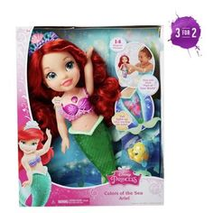 buy disney princess colours of the sea ariel playset at argoscouk - Colour Kid