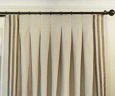 Inverted drapery pleat