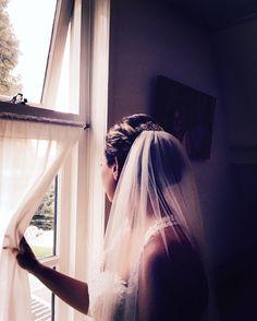 Bruidskapsel opgestoken met sluier @Boskoop