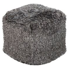 Surya 18 in. Cube Polyester Pouf | from hayneedle.com