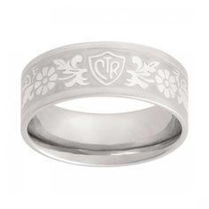 Daisy Flower Scroll Stainless Steel CTR Ring - Women's CTR Rings - CTR Rings - LDS Jewelry