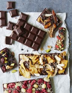 """How to make your own chocolate without flavourings, emulsifiers or powders. Rich and intense tempered glossy chocolate with a good """"snap"""" when broken; make your own chocolate bars as edible gifts - recipe from Clean Cakes by Henrietta Inman"""