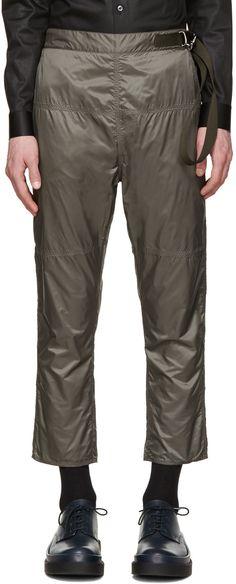 198€ Jil Sander - Pantalon en nylon gris