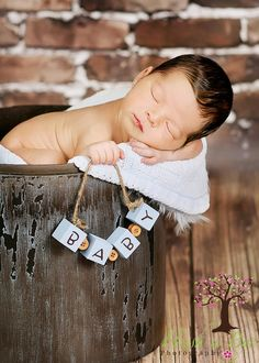 unique newborn photography | Fun and Unique Baby Blocks Photography Prop by HushaByeCreations