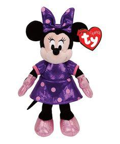Look what I found on #zulily! Minnie Mouse Purple Sparkle Beanie Baby #zulilyfinds