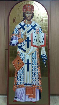 Christ the High Priest. Byzantine Icons, Byzantine Art, Christian Church, Christian Art, Fortune Cards, Catholic Priest, High Priest, Religious Icons, Orthodox Icons