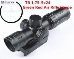 52.28$  Watch now - http://alige7.shopchina.info/go.php?t=32779482317 - Tactical 1.75-5x24 Riflescope Green Red Dual Illuminated Air Rifle Optics Reticle scope Hunting Scope with 20mm Rail  #SHOPPING