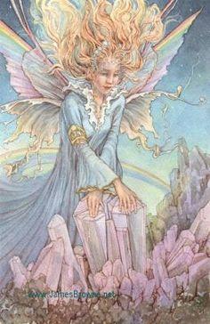 Rainbow Fairies   Fairy fairies faery faeries fae fantasy flowers The Rainbow Fairy ...