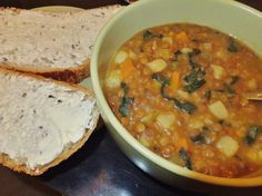 Vegan lentil soup with Tuscan kale, pressure cooker style!