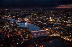 See. The London skyline as seen from The View from the Shard, London, (Condé Nast Traveller)