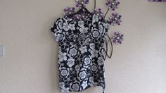 NEXT LOVELY NAVY  FLORAL TOP T SIZE 8,  COTTON, CASUAL #Next #OtherTops #Casual