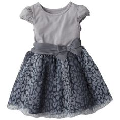 Cherokee® Infant Toddler Girls' Dress - Grey ($14) ❤ liked on Polyvore featuring baby and dresses