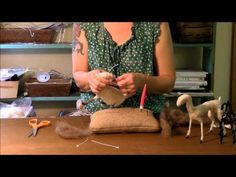 Needle Felting Tutorial - Sarafina Fiber Art Goat Series 5: Horns and Head - YouTube